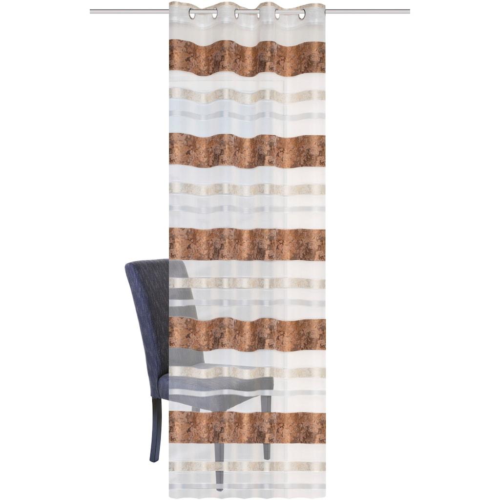 HOME WOHNIDEEN Vorhang »KIRAN«, HxB: 245x140, Jacquardmusterung