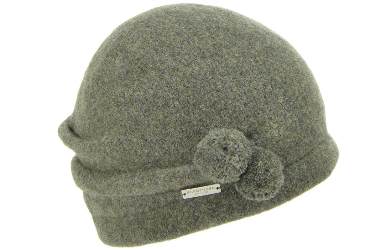 seeberger -  Fleecemütze Walkbeanie mit Minipompoms 16609-0