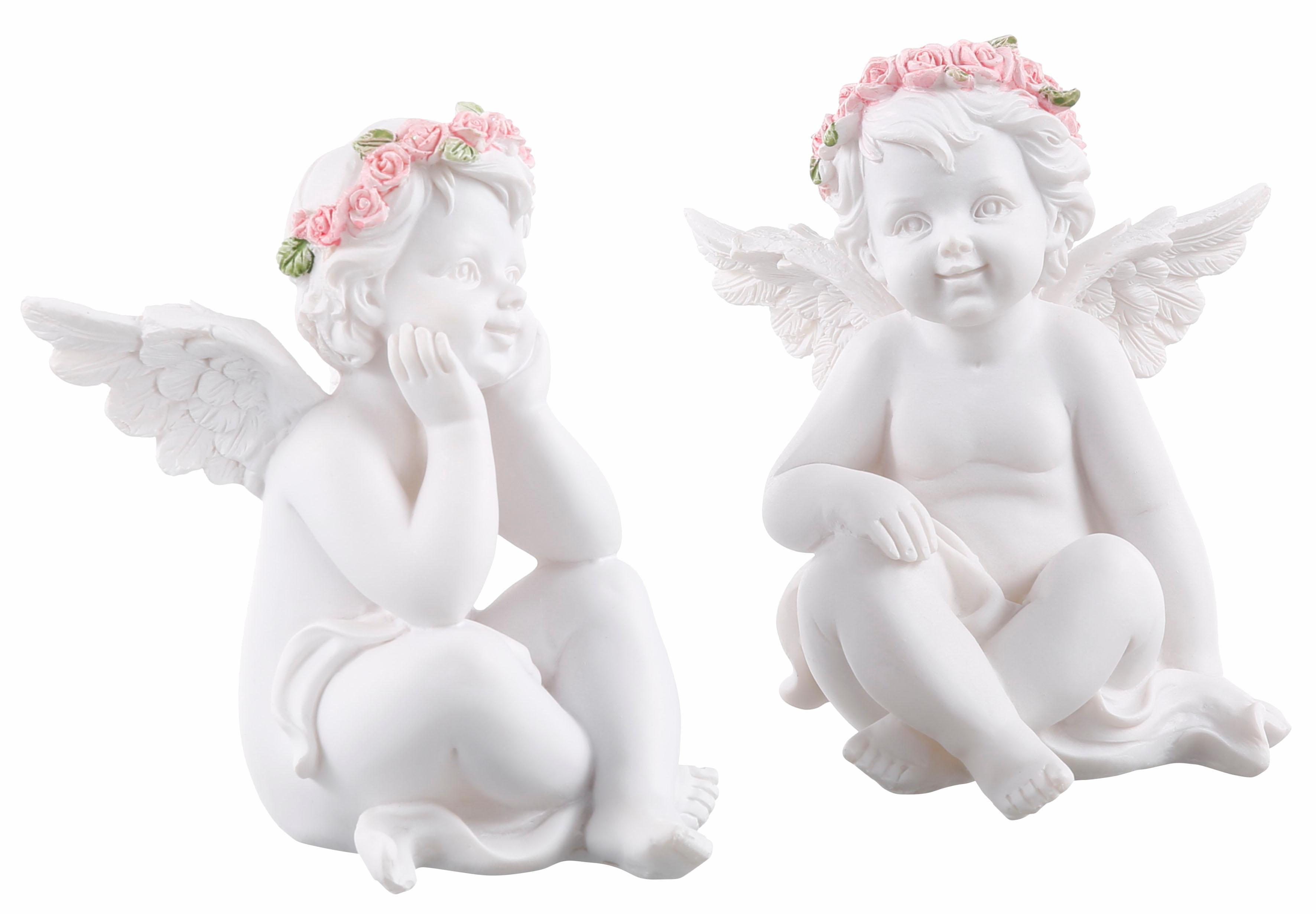 pajoma Engelfigur Engel Rosalia, (2er Set) weiß Engelfiguren Figuren Skulpturen Wohnaccessoires