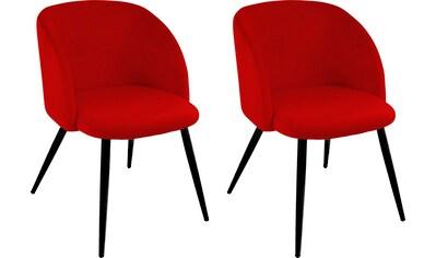 Paroli Armlehnstuhl »Dali«, (2 oder 4 Stück), mit Veloursbezug und in 2 Gestellfarben kaufen