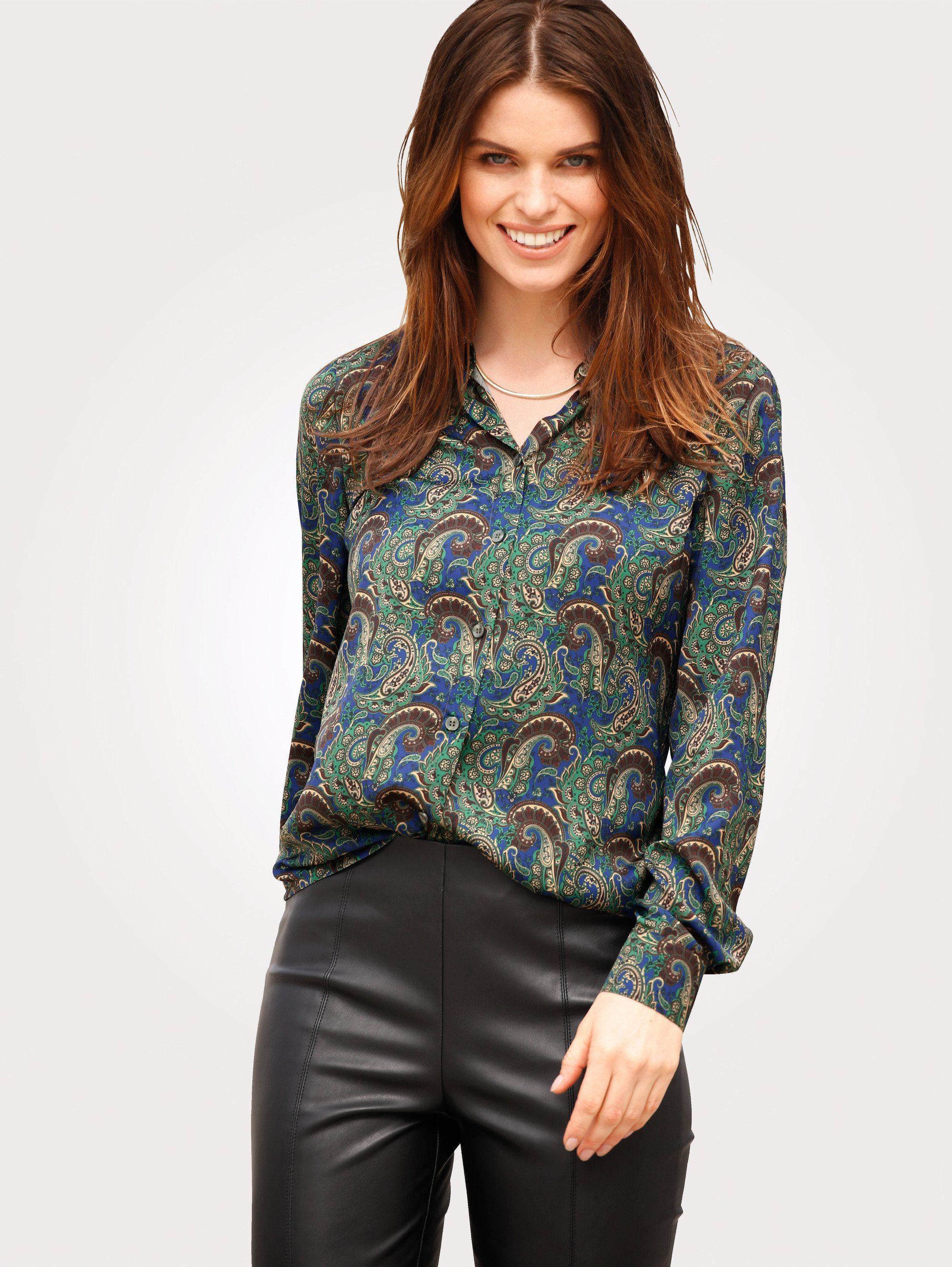 Mona Bluse aus feiner Satin-Qualität
