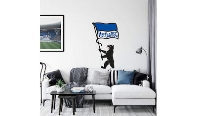 Wall-Art Wandtattoo »Berliner Bär + Hertha BSC Fahne« kaufen