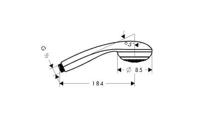HANSGROHE Handbrause »Crometta 85 Green«, Durchmesser 7,5 cm kaufen
