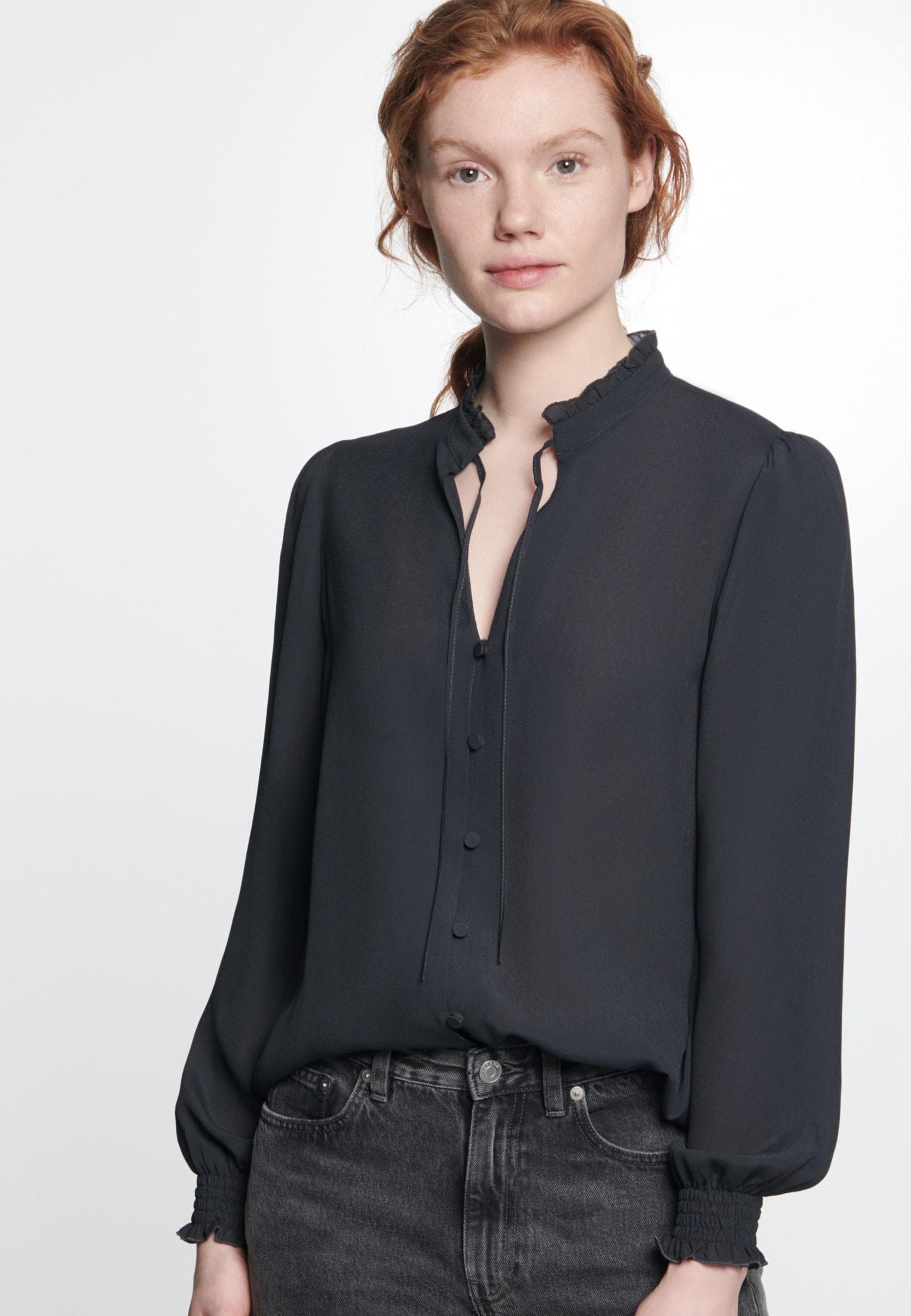 seidensticker Klassische Bluse Schwarze Rose | Bekleidung > Blusen > Klassische Blusen | Schwarz | Seidensticker