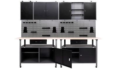 ONDIS24 Werkstatt - Set 2x Werkbank, 2x Werkstattschrank, 2x Lochwand kaufen