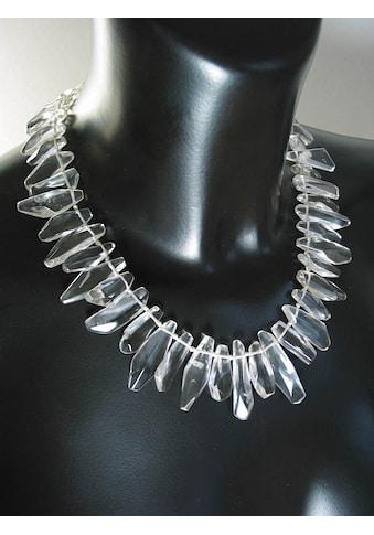 Adelia´s Kette ohne Anhänger »Damen Schmuck Edelstein Bergkristall Halskette transparent« kaufen
