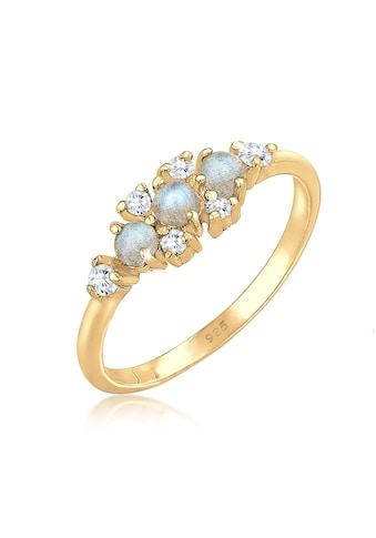 Elli Verlobungsring »Bandring Labradorit Edelstein Zirkonia 925 Silber« kaufen