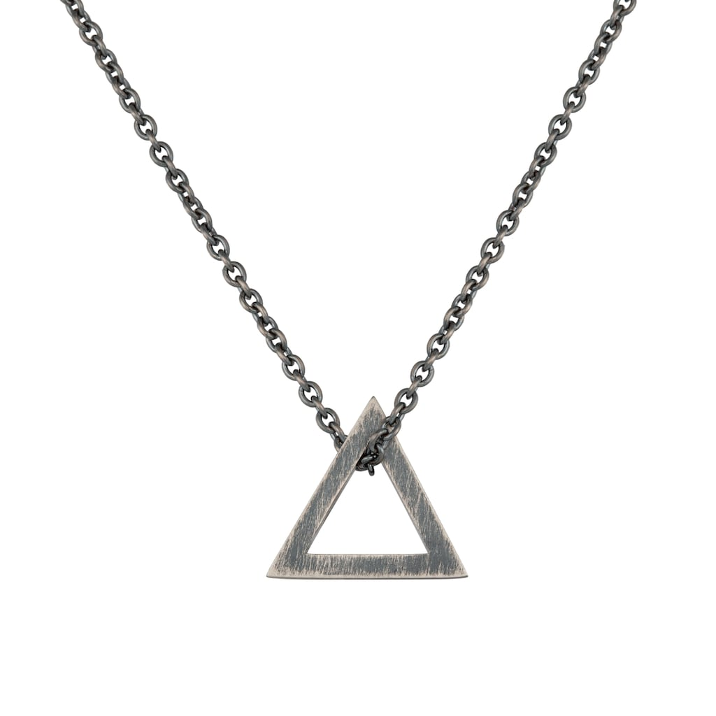 CAÏ Kette mit Anhänger »925/- Silber matt oxidiert Dreieck«