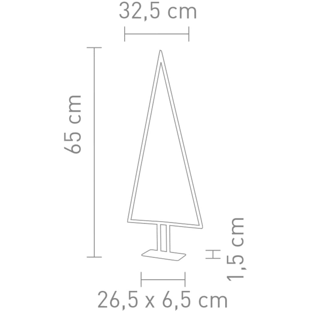 SOMPEX LED Baum »Pinewood«, Warmweiß, Höhe 65 cm