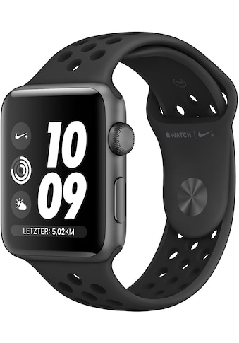 Apple Nike+ Series 3 GPS, Aluminiumgehäuse mit Nike Sportamband 42mm Watch (Watch OS 5) kaufen