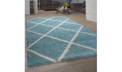 Paco Home Hochflor-Teppich »Kalmar 441«, rechteckig, 40 mm Höhe, Wohnzimmer kaufen