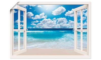 Artland Wandbild »Fensterblick Großartige Strandlandschaft«, Fensterblick, (1 St.), in... kaufen