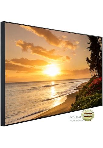 Papermoon Infrarotheizung »Tropischer Sonnenuntergang Kaanapali Beach«, sehr angenehme... kaufen
