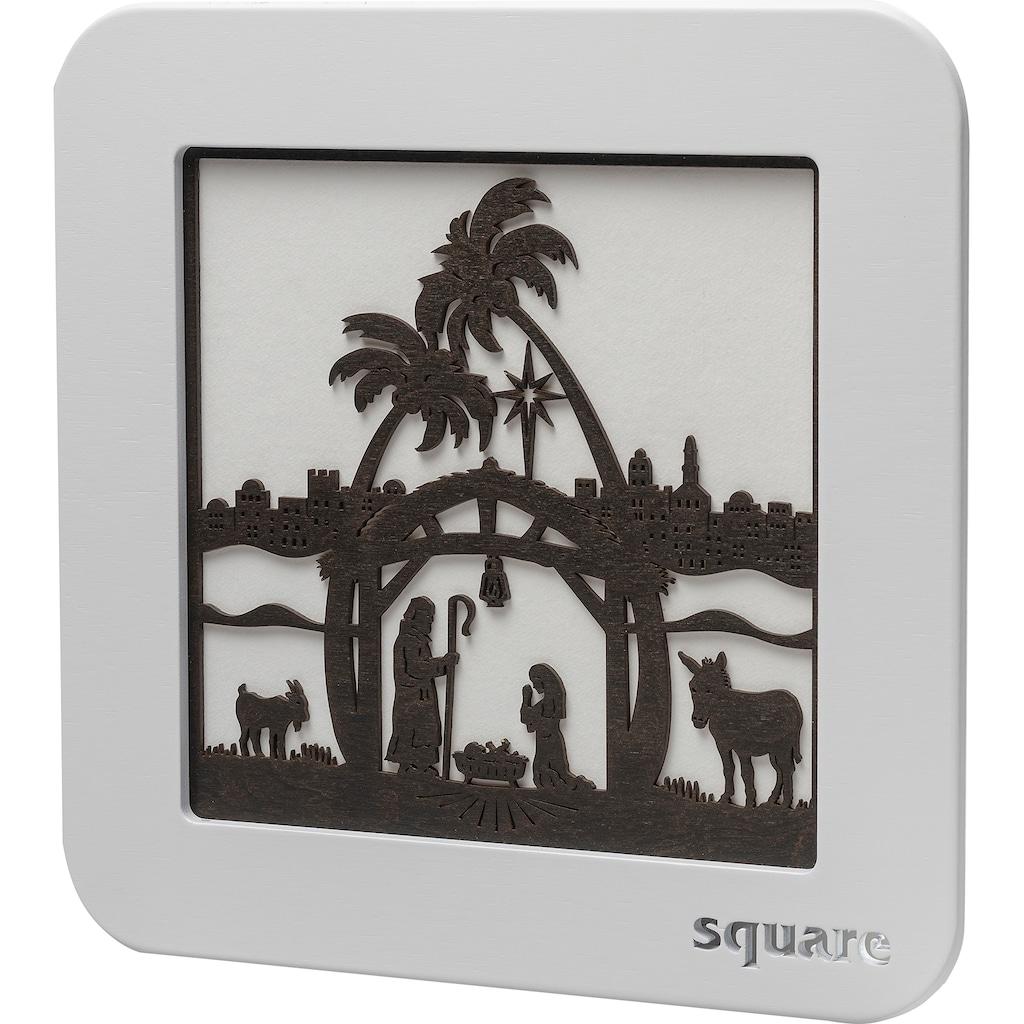 Weigla LED-Bild »Square - Wandbild Christi Geburt«, (1 St.), mit Timer, einseitiges Motiv