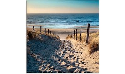 Artland Glasbild »Weg zum Nordseestrand Sonnenuntergang« kaufen