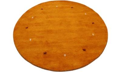 carpetfine Wollteppich »Gabbeh Uni«, rund, 15 mm Höhe, reine Wolle, handgewebt, Gabbeh... kaufen