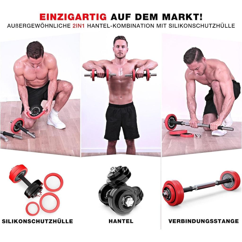 Sportstech Hantel-Set, 30 kg, (Set, 31 tlg., mit Kurz- und Langhantelstange)