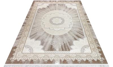 Festival Teppich »Astana«, rechteckig, 11 mm Höhe, Hoch-Tief-Struktur, Orient Optik, Wohnzimmer kaufen