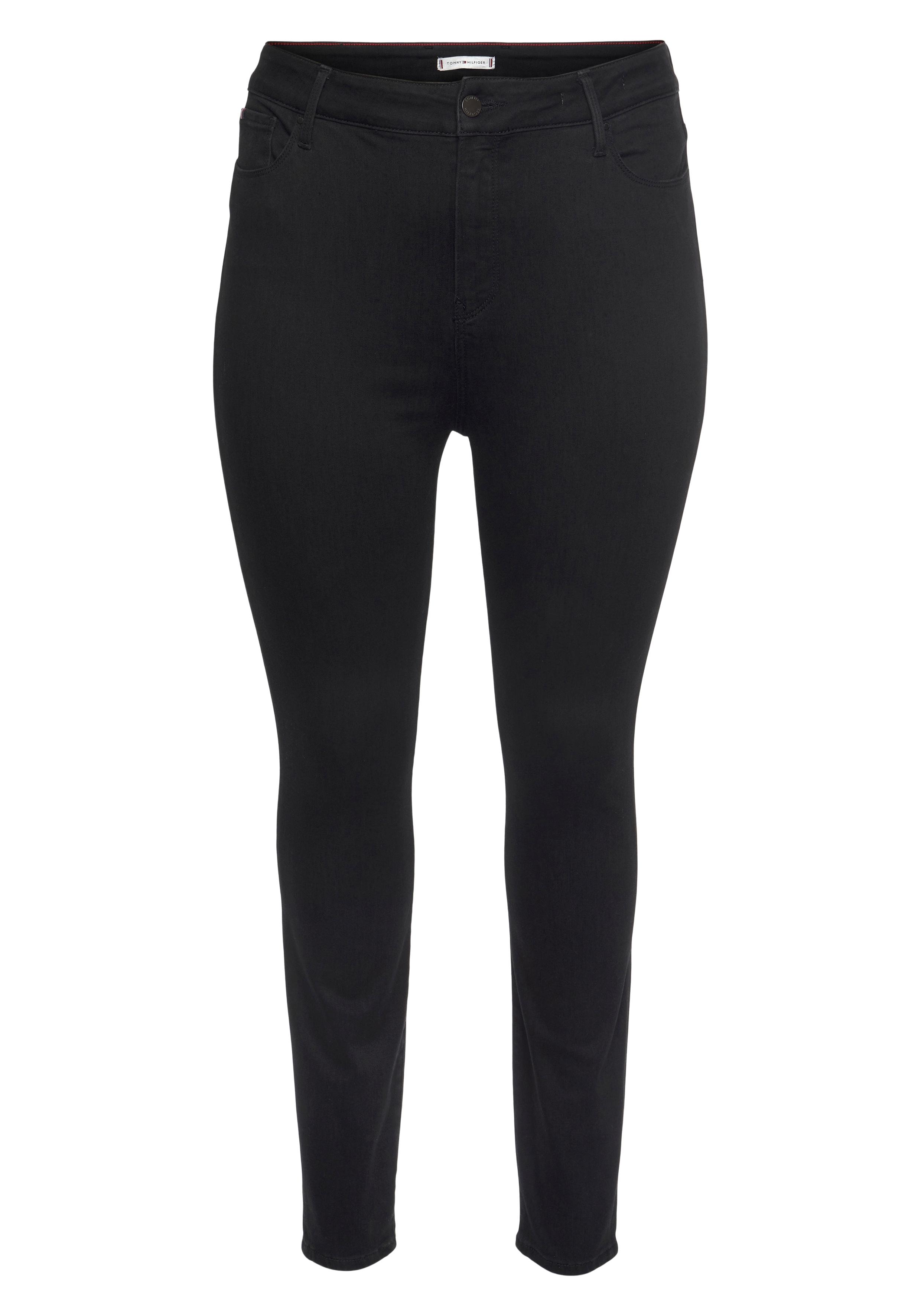 tommy hilfiger curve -  Skinny-fit-Jeans CRV HARLEM U SKINNY HW BLACK, mit Tommy Hilfiger Logo-Flag