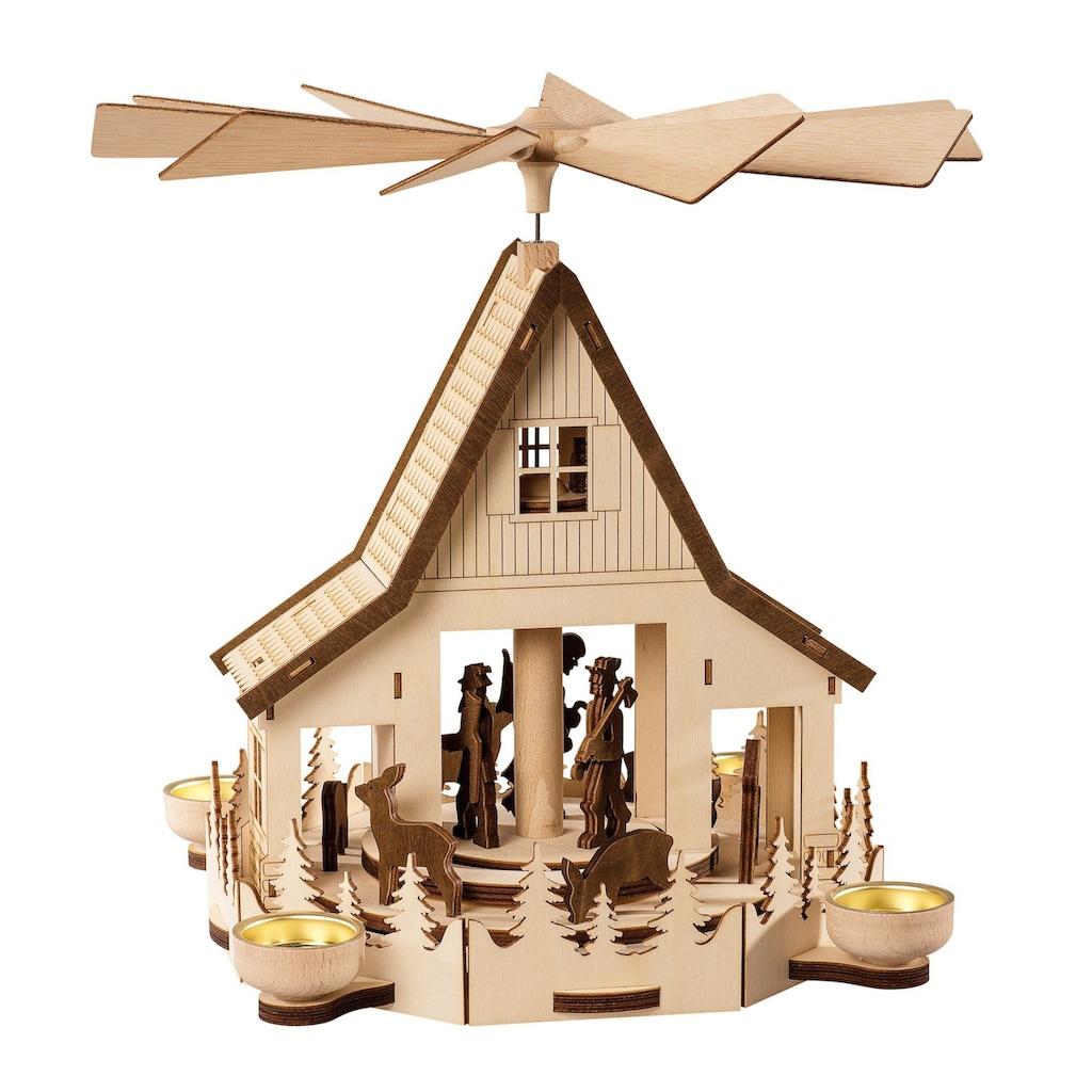 SAICO Original Pyramide Waldhaus für 4 Teelichte