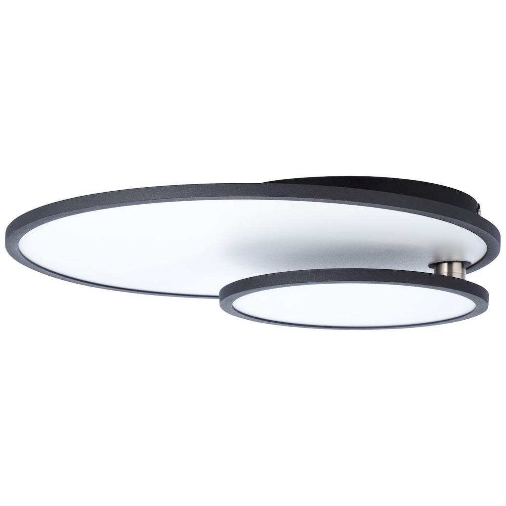 Brilliant Leuchten Bility LED Deckenaufbau-Paneel 61x45cm schwarz/weiß easyDim