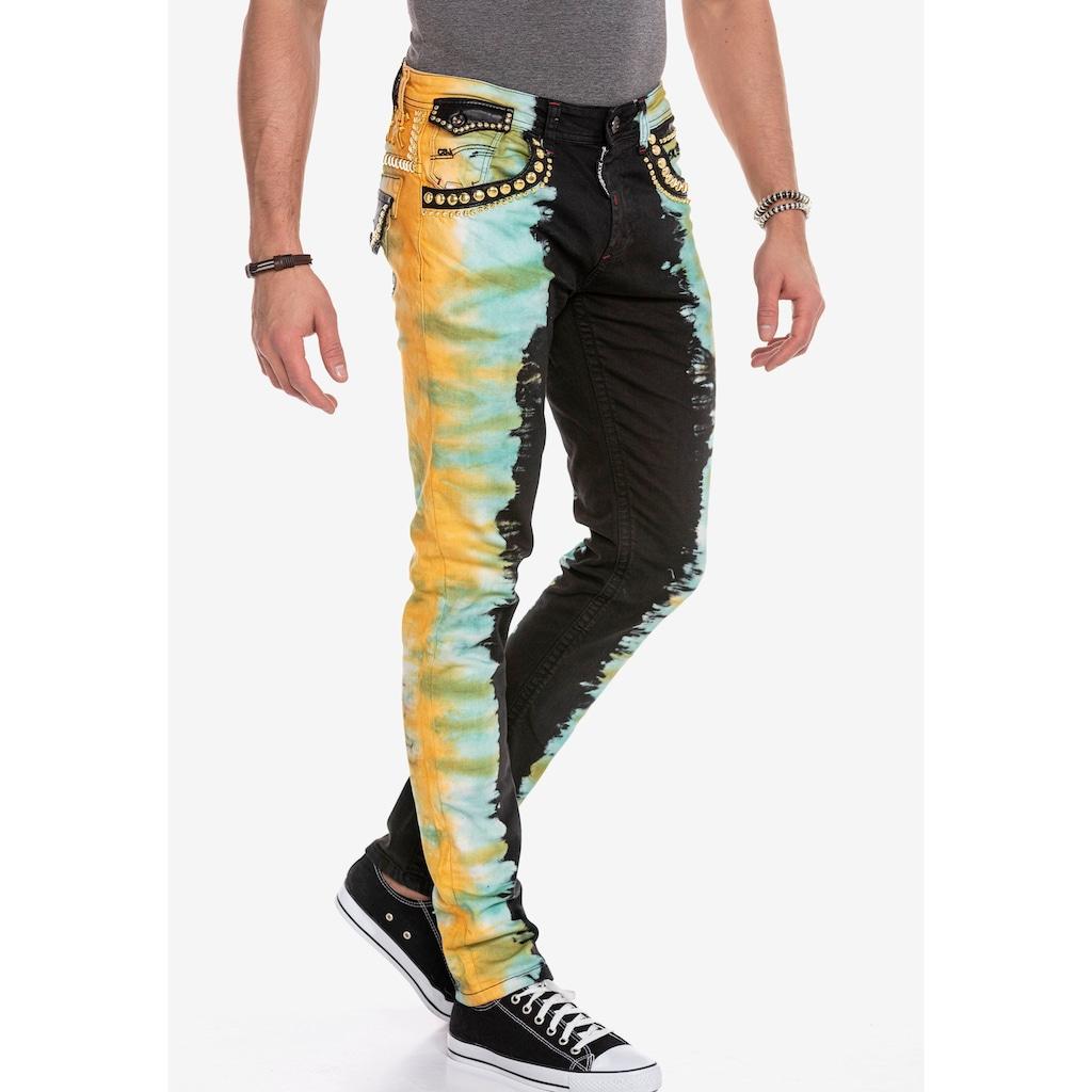 Cipo & Baxx Slim-fit-Jeans, im extravaganten Look