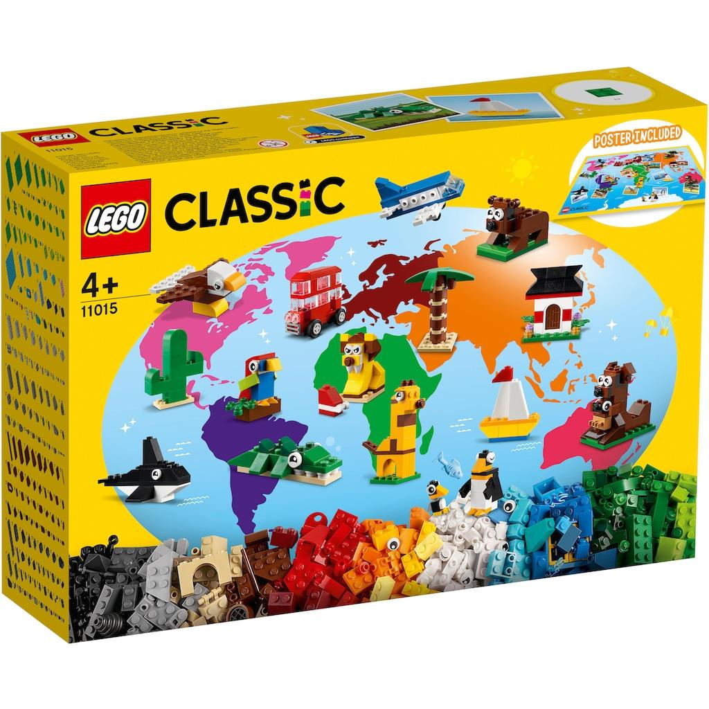 LEGO® Konstruktionsspielsteine »Einmal um die Welt (11015), LEGO® Classic«, (950 St.), Made in Europe