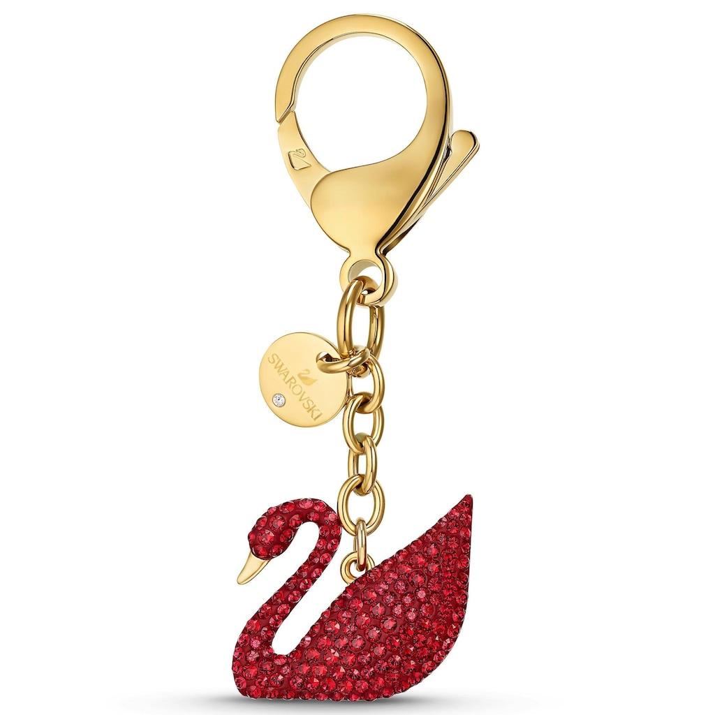 Swarovski Schlüsselanhänger »Swan, 5526754«, mit Swarovski® Kristallen
