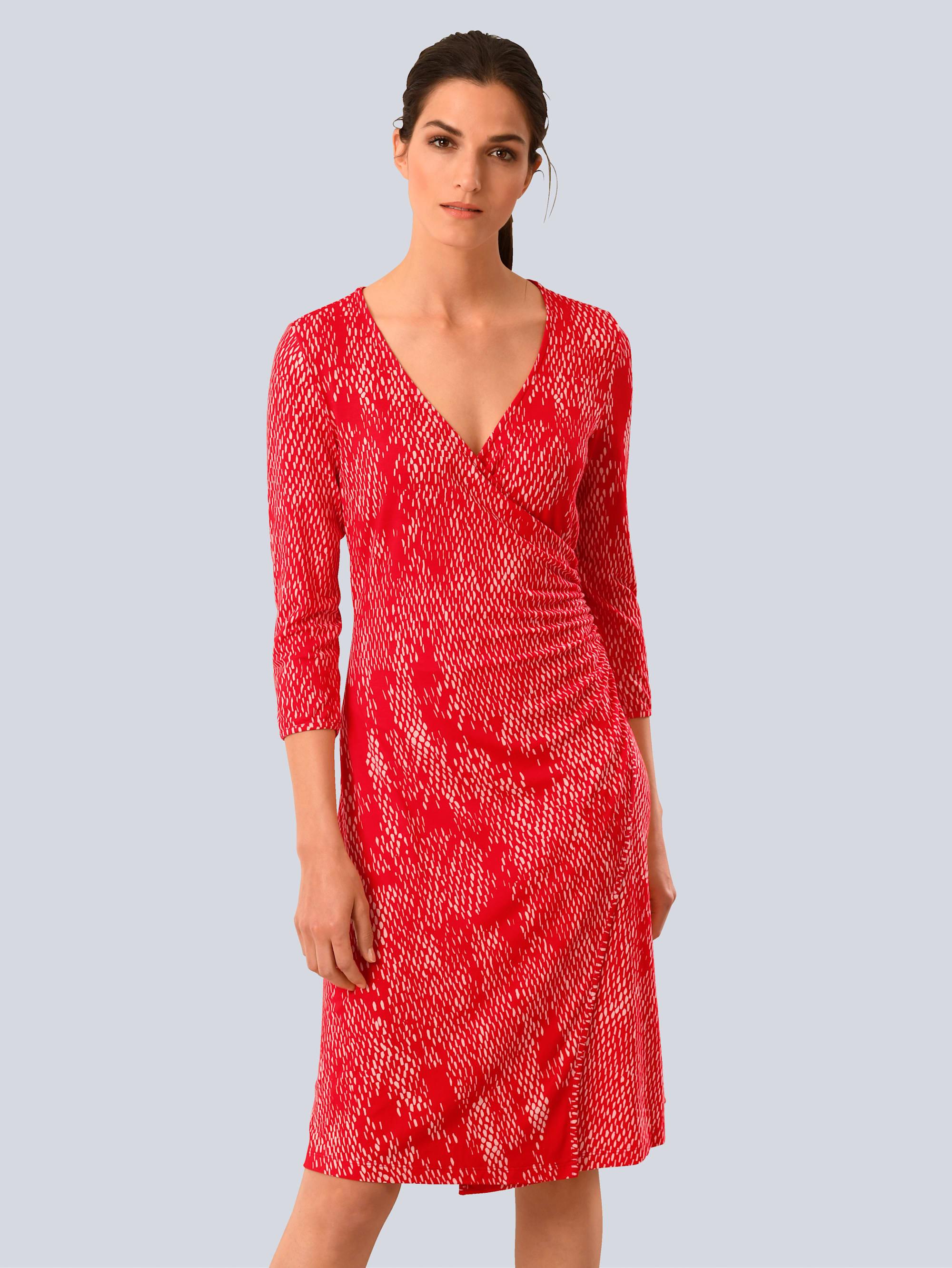 Alba Moda Wickelkleid rot Damen Wickelkleider Kleider