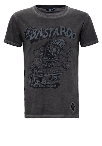 KingKerosin Print-Shirt »El Bastardo«, im Used Look kaufen
