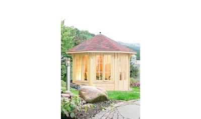 Wolff Holzpavillon »Capri 3.5«, (Set), BxT: 430x430 cm, mit Dachschindeln und Fußboden kaufen