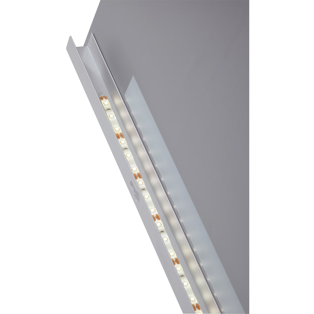 welltime Badmöbel-Set »Hörnum«, (3 St.), Breite 90 cm, mit LED-Beleuchtung, gerundete Front