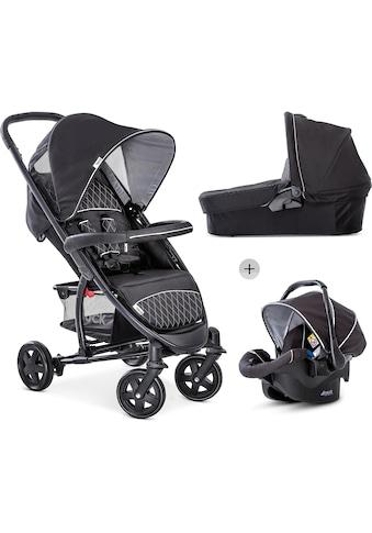 Hauck Kombi-Kinderwagen »Malibu 4 Trio Set, Black/Silver«, mit Babyschale; Kinderwagen kaufen