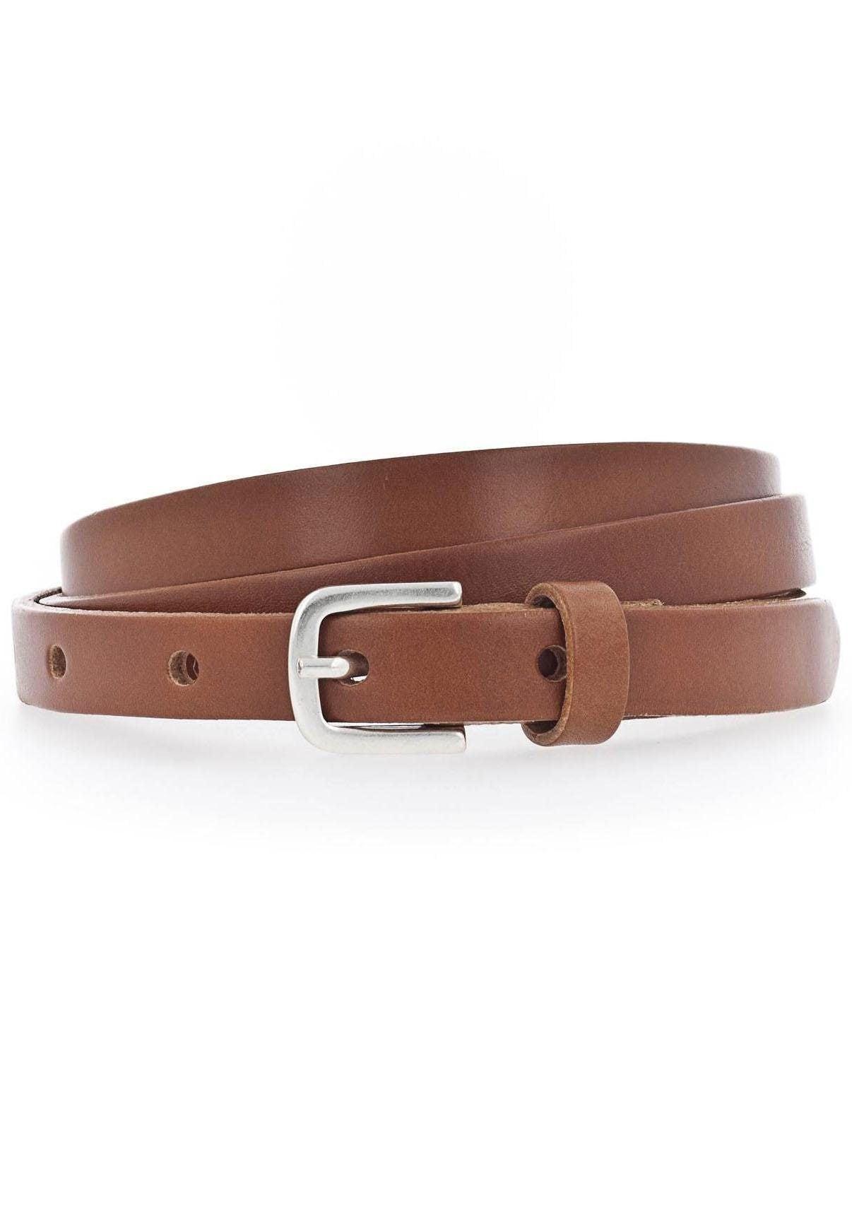 Vanzetti Ledergürtel, Überlänge, lässige Spitze zum Knoten braun Damen Ledergürtel Gürtel Accessoires