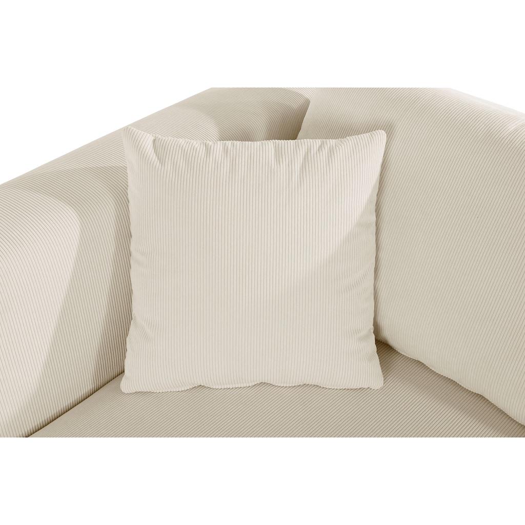 Guido Maria Kretschmer Home&Living Ottomane »Comfine«, Modul-Ottomane zur indiviuellen Zusammenstellung eines perfekten Sofas, in 3 Bezugsvarianten und vielen Farben, Bezug auch in Luxus-Microfaser in Teddyfelloptik