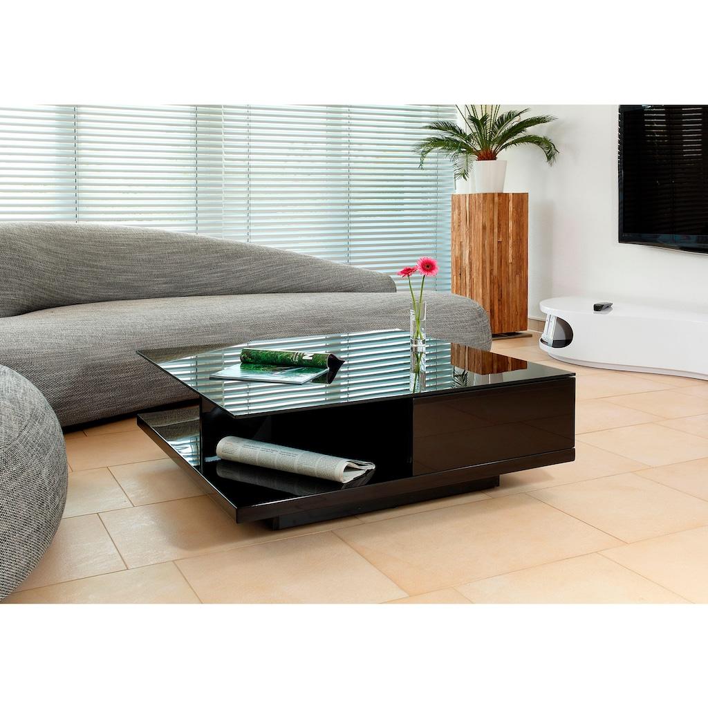 SalesFever Couchtisch, mit Tischplatte aus gehärtetem Kristallglas