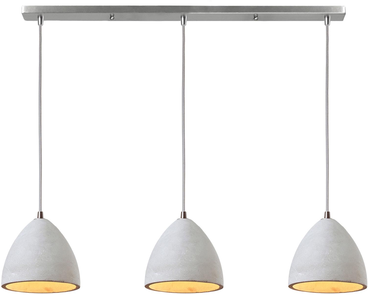 SalesFever Hängeleuchte Nora, E27, 3x Lampenschirme aus Beton