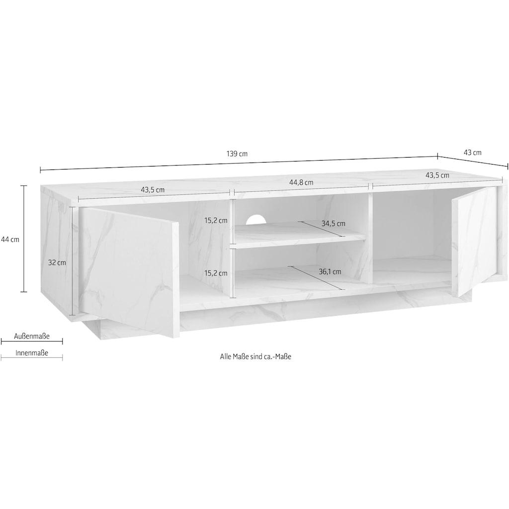 LC Lowboard »Carrara«, grifflos