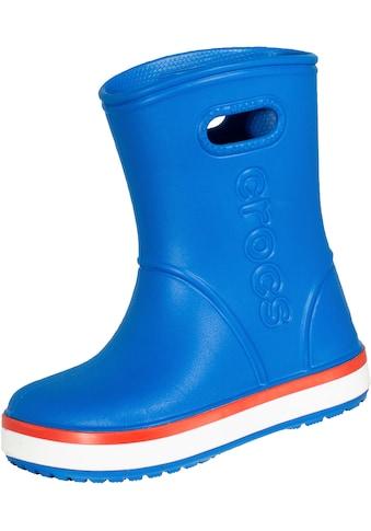 Crocs Gummistiefel »Kids Crocband™ Rain Boot«, für Kinder, blau mit extra großem Einstieg kaufen