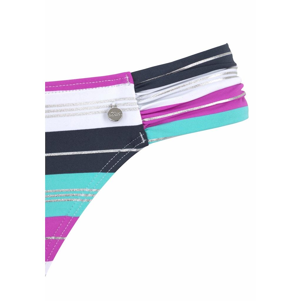 s.Oliver Beachwear Bügel-Bandeau-Bikini, mit Wickeloptik