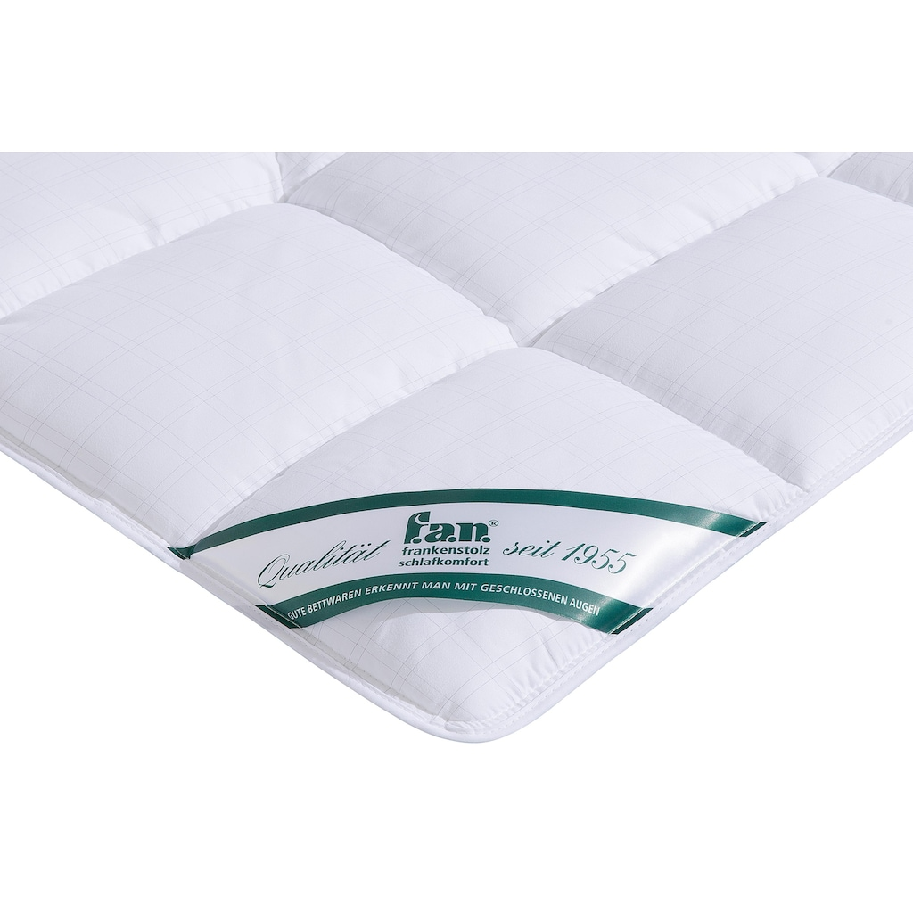 f.a.n. Schlafkomfort Microfaserbettdecke + Microfaserkissen »Antistress«, (Spar-Set)