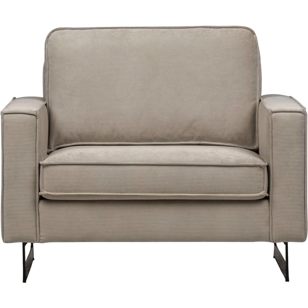 Places of Style Loveseat »Pinto«, mit Keder und Cord Bezug