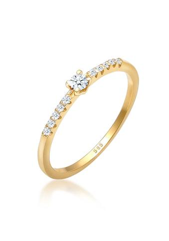 Diamore Diamantring »Geo Microsetting Diamant (0.16 ct.) 585 Gelbgold« kaufen