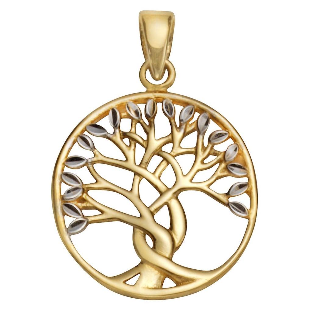 Firetti Runder Anhänger »Lebensbaum«, rund, glanz, bicolor