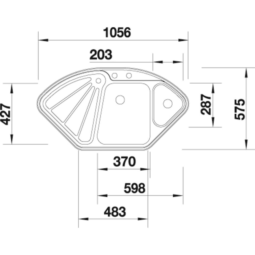 Blanco Küchenspüle »DELTA-IF«, inklusive 1 Edelstahleinsatz