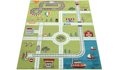 Paco Home Kinderteppich »ECE Straße 994«, rechteckig, 14 mm Höhe, Kurzflor, Straßen-Spielteppich, Kundenliebling mit 5 Sterne-Bewertung! kaufen