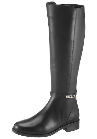 TOMMY HILFIGER Stiefel »BLOCK BRANDING FLAT LONG BOOT« kaufen