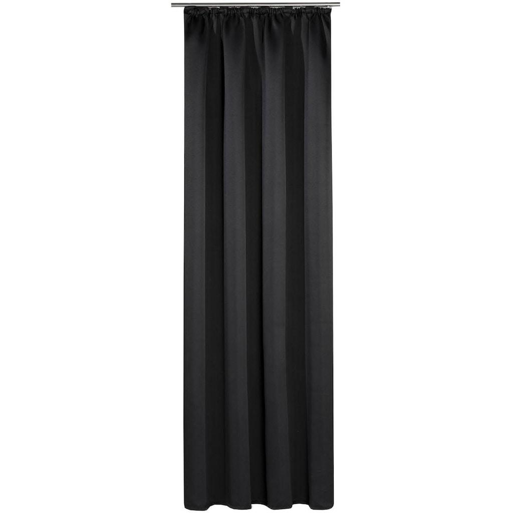 Gerster Vorhang »Toni«, HxB: 235x140, Schlaufenschal mit Uniband, verdunkelnd