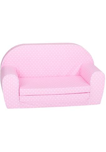 Knorrtoys® Sofa »Pink white dots«, für Kinder; Made in Europe kaufen