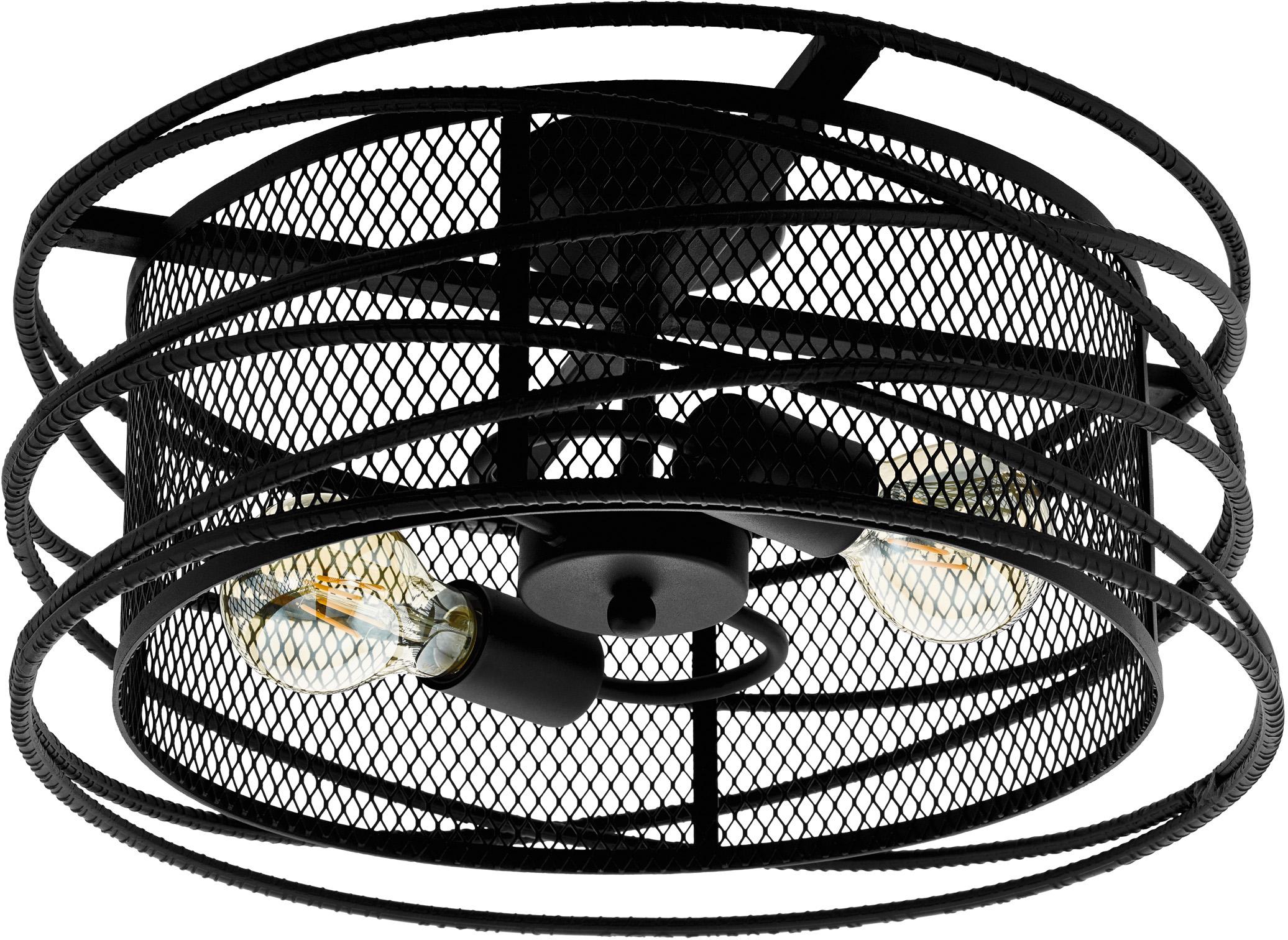 EGLO Deckenleuchte BLACKWATER, E27, Deckenlampe